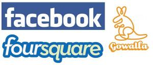 Facebook, Foursquare, Gowalla Collage